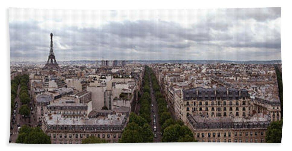 Paris Hand Towel featuring the photograph Paris From The Arch De Triumph by Robert Ponzoni