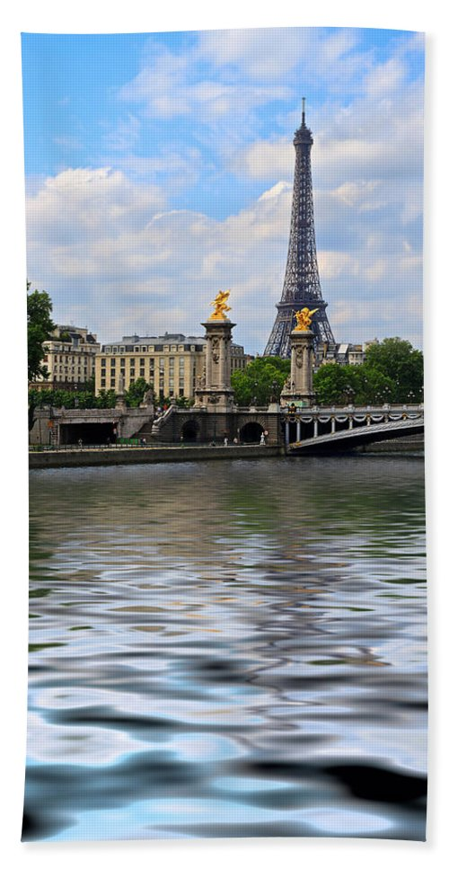 Eiffel Tower Hand Towel featuring the photograph Paris by Louise Heusinkveld