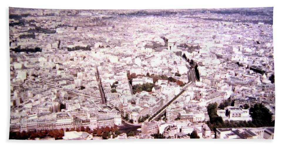 1955 Hand Towel featuring the photograph Paris Panorama 1955 by Will Borden