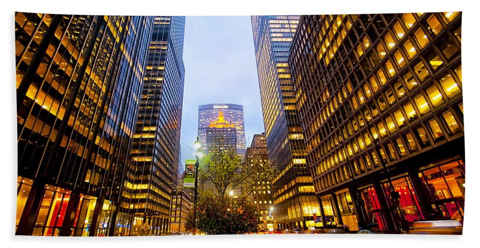 America Hand Towel featuring the photograph Park Avenue Nyc by Svetlana Sewell