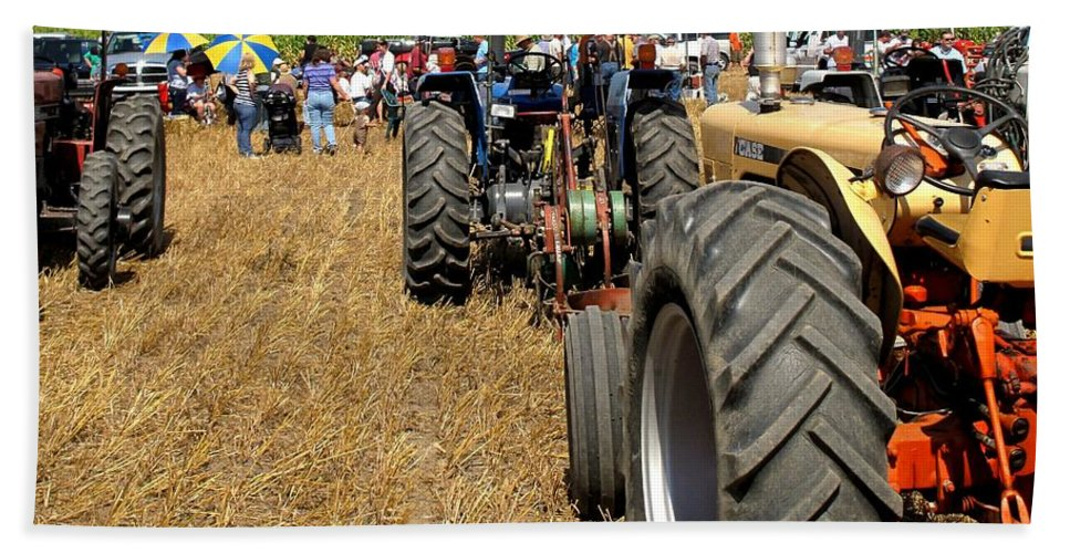 Tractors Bath Sheet featuring the photograph Parking For Lunch by Ian MacDonald