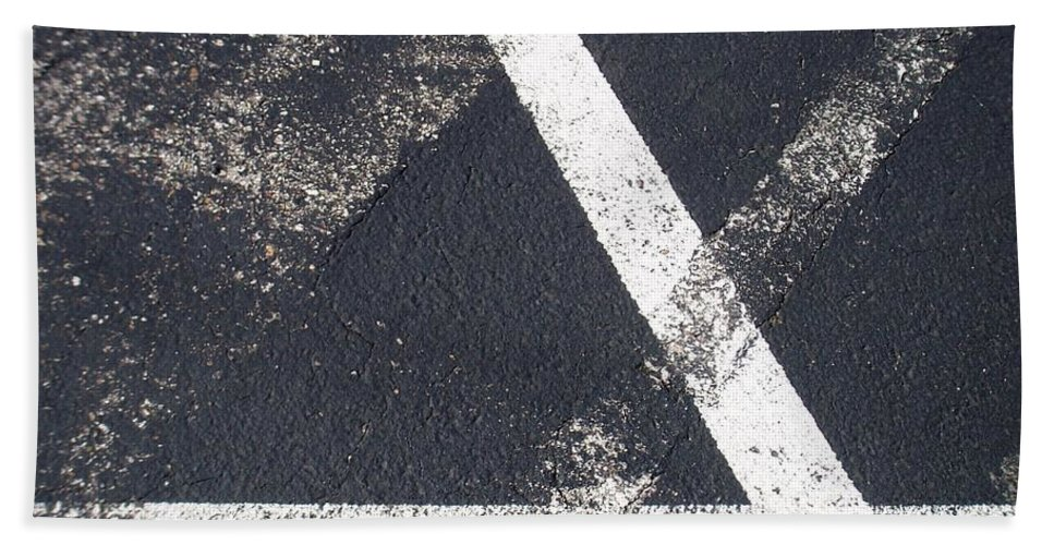 Parking Lot Hand Towel featuring the photograph Parking Lot 6 by Anita Burgermeister
