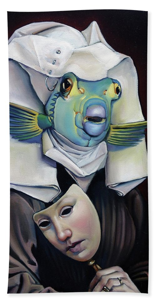 Fish Hand Towel featuring the painting Parrishfish by Patrick Anthony Pierson