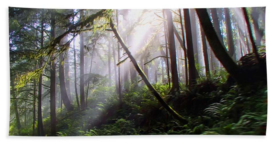 Peaceful Hand Towel featuring the photograph Parting Of The Mist by Alana Thrower