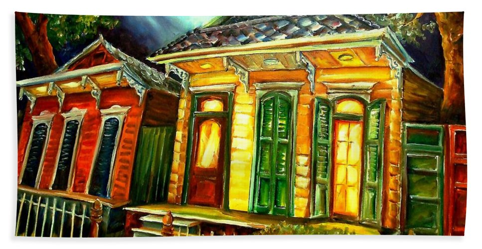 New Orleans Bath Sheet featuring the painting Partners by Diane Millsap