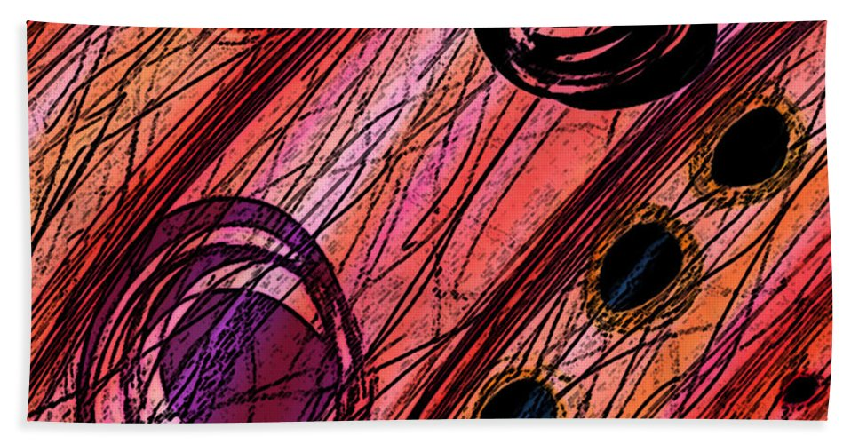 Abstract Bath Sheet featuring the digital art Passages by Rachel Christine Nowicki
