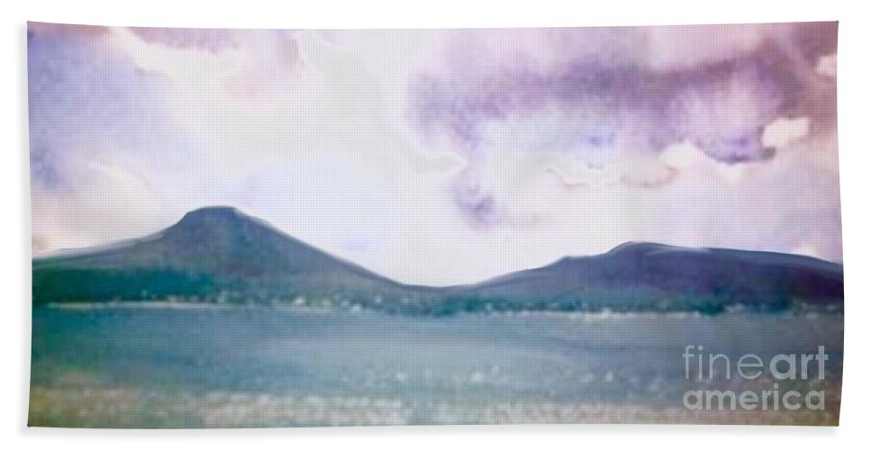 Storm Bath Sheet featuring the painting Passing Storm by Paul Jarvis