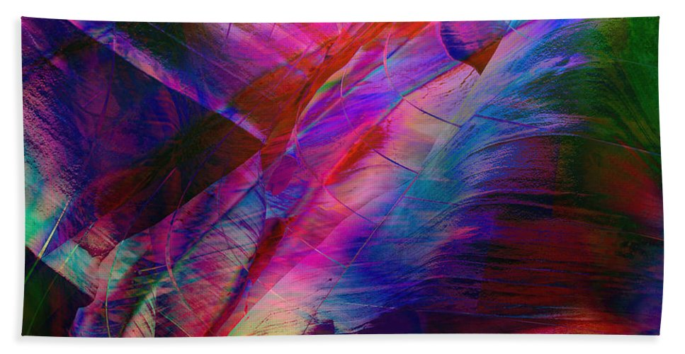 Abstract Bath Sheet featuring the digital art Passion by Barbara Berney