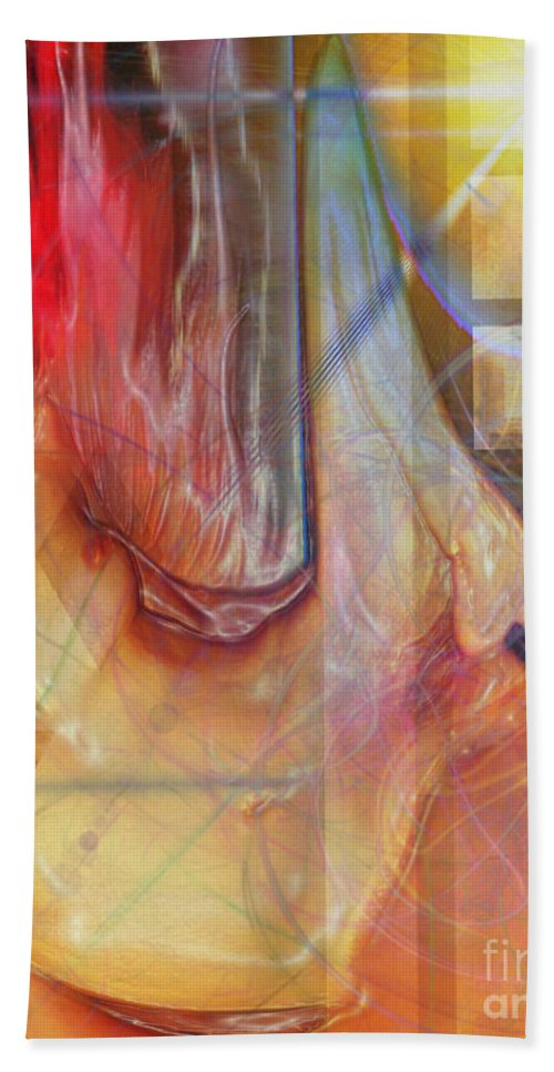 Passion Play Bath Towel featuring the digital art Passion Play by John Beck