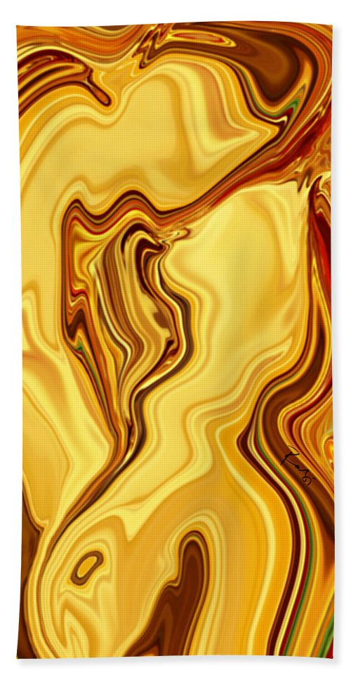 Abstract Bath Sheet featuring the digital art Passion by Rabi Khan