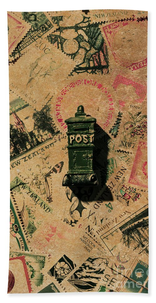 Postage Bath Towel featuring the photograph Past Letters In Post by Jorgo Photography - Wall Art Gallery