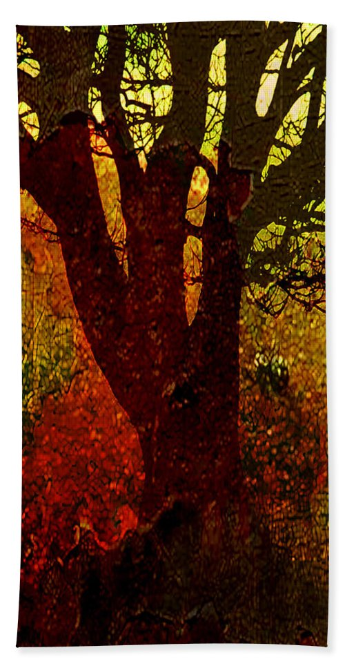 Tree Hand Towel featuring the digital art Past Life by Ken Walker