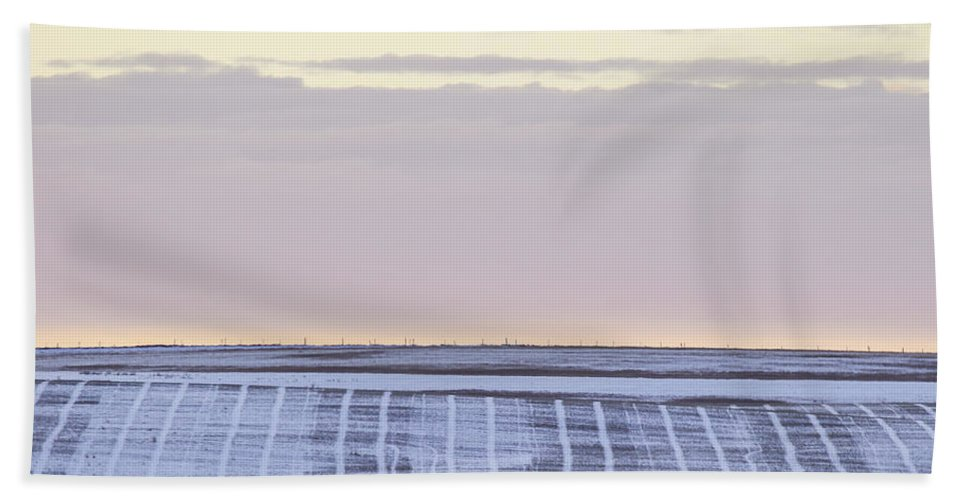 Prairies Bath Sheet featuring the photograph Pastel Plow Lines by J and j Imagery