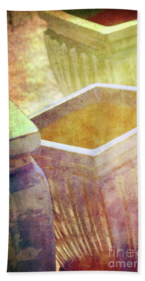 Pottery Bath Sheet featuring the photograph Pastel Pottery by Susanne Van Hulst