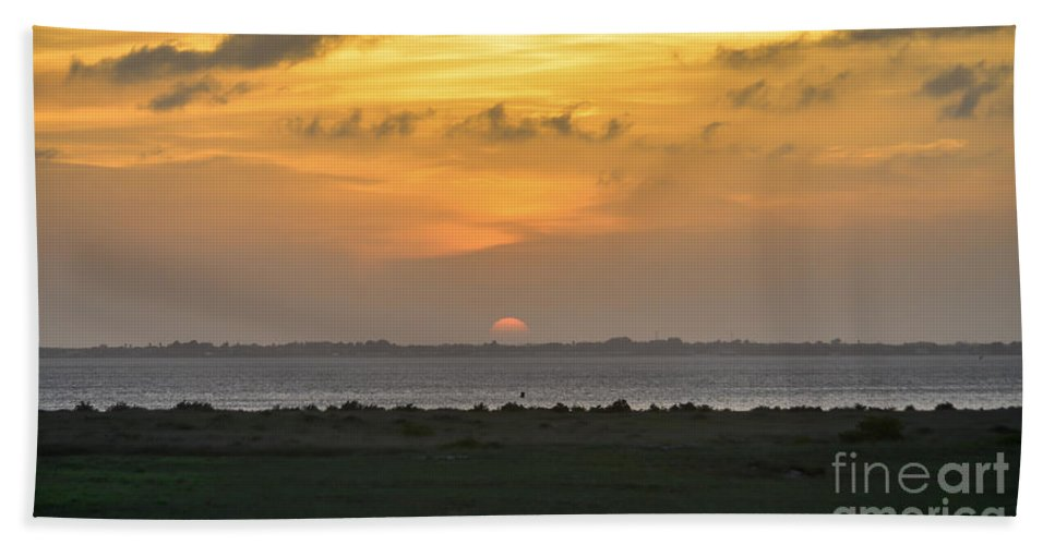 Sunset Hand Towel featuring the photograph Pastel Sky by Debra Martz