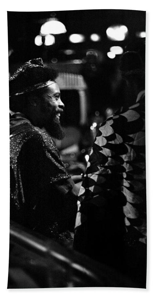 Sun Ra Arkestra At The Red Garter 1970 Nyc Hand Towel featuring the photograph Pat Patrick 1 by Lee Santa