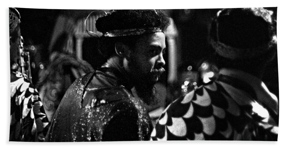 Sun Ra Arkestra At The Red Garter 1970 Nyc Bath Sheet featuring the photograph Pat Patrick 2 by Lee Santa