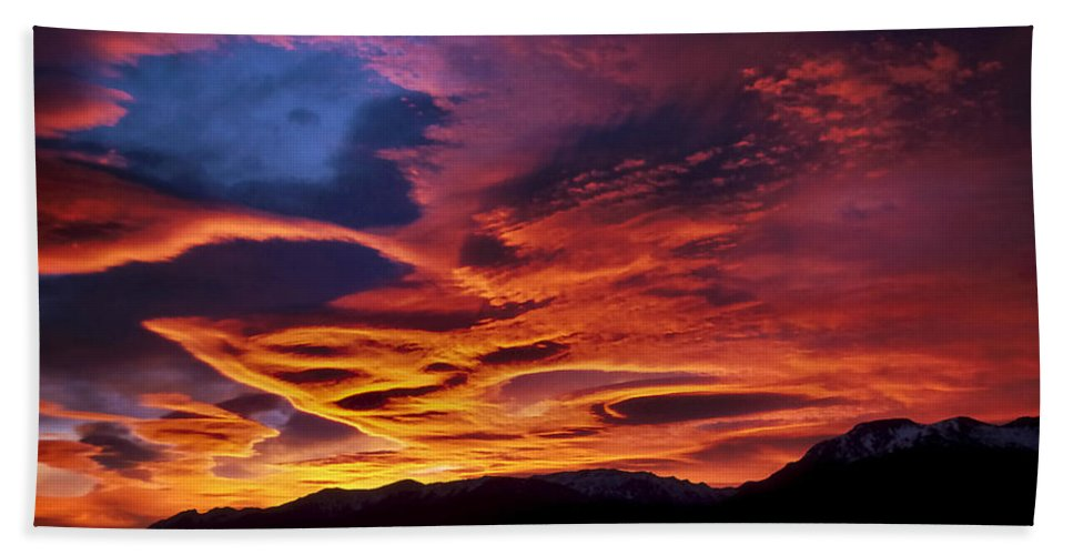 Patagonia Bath Sheet featuring the photograph Patagonian Sunrise by Joe Bonita