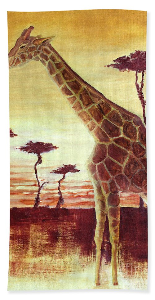 Animal Hand Towel featuring the painting Patches by Todd A Blanchard