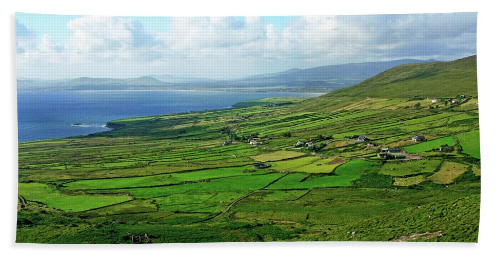Ireland Hand Towel featuring the photograph Patchwork Landscape by Aidan Moran