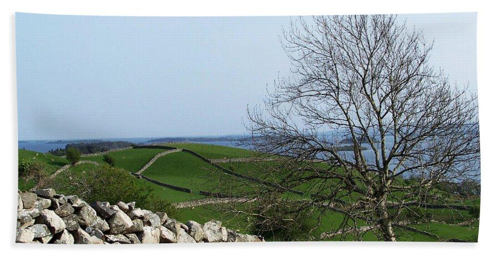 Irish Hand Towel featuring the photograph Patchwork Quilt Lough Corrib Maam Ireland by Teresa Mucha