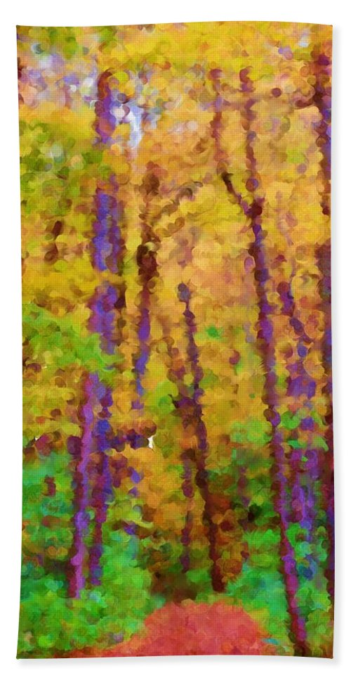 Digital Photograph Hand Towel featuring the photograph Path In The Woods by David Lane