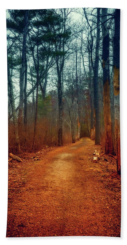 Woods Hand Towel featuring the photograph Path by Lilia D