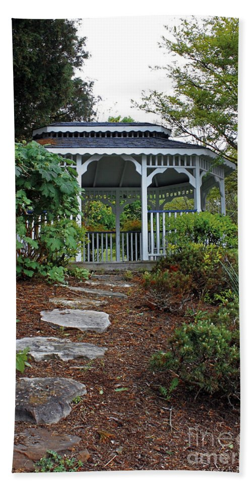 Landscape Bath Sheet featuring the photograph Path To The Gazebo by Todd Blanchard