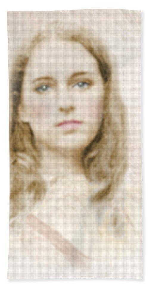 Portraits Bath Sheet featuring the photograph Pathos by Karen W Meyer