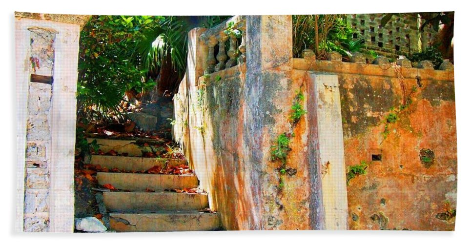 Steps Hand Towel featuring the photograph Pathway by Debbi Granruth