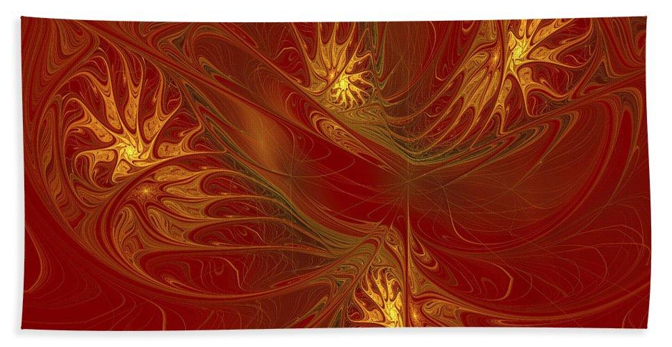 Digital Hand Towel featuring the digital art Pattern Of Elegance by Deborah Benoit