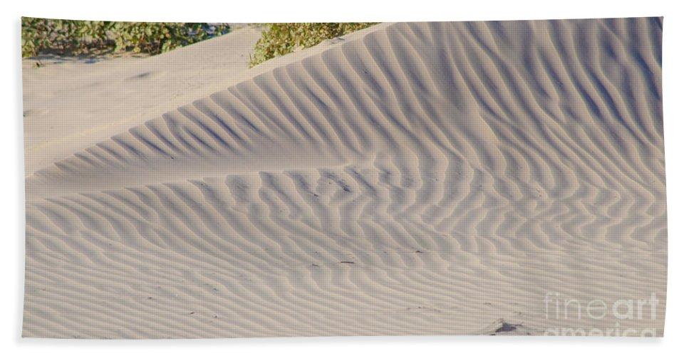 Beach Bath Sheet featuring the photograph Patterns In The Sand by Debra Martz
