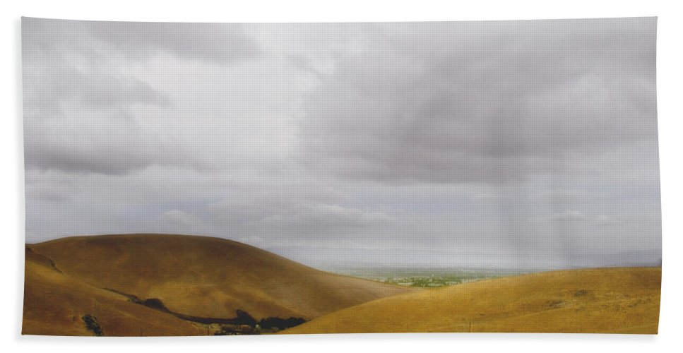 Landscape Bath Towel featuring the photograph Patterson Pass Road by Karen W Meyer