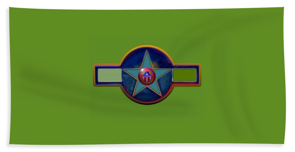 Usaaf Insignia Bath Sheet featuring the digital art Pax Americana Decal by Charles Stuart