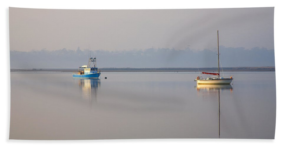 Tasmania Bath Sheet featuring the photograph Peace At Anchor by Mike Dawson