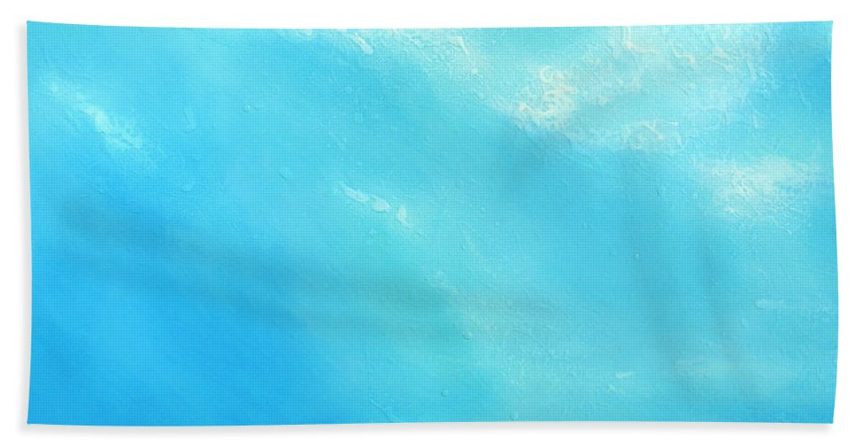 Blue Hand Towel featuring the painting Peace by Jaison Cianelli