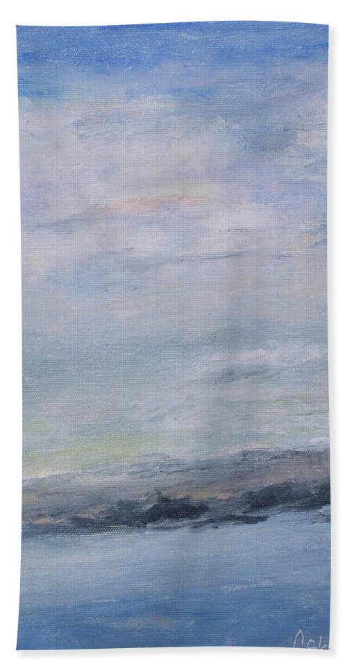 Sky Bath Towel featuring the painting Peace by Patricia Caldwell