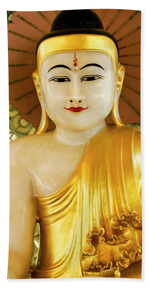Asia Hand Towel featuring the photograph Peaceful Buddha by Michele Burgess