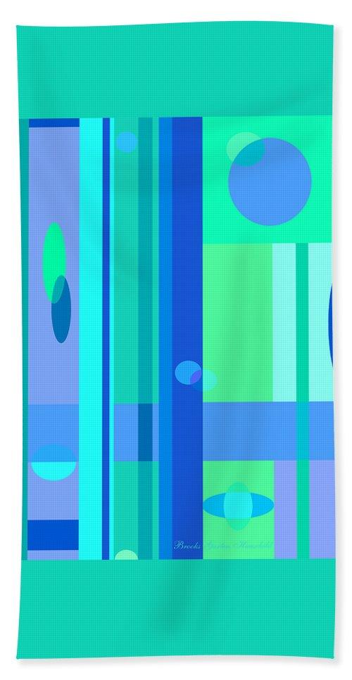 Blue Hand Towel featuring the digital art Peaceful Easy Feeling by Brooks Garten Hauschild