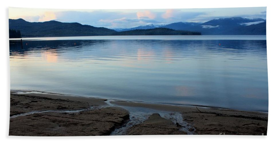 Beach Hand Towel featuring the photograph Peaceful Priest Lake by Carol Groenen