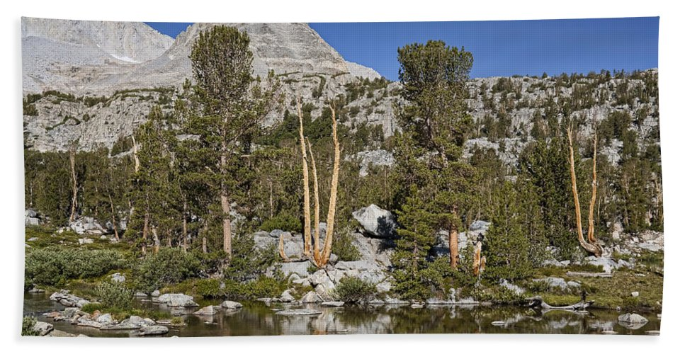 Mountain Bath Sheet featuring the photograph Peaceful Retreat by Kelley King