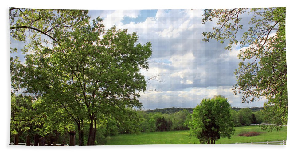 Landscape Hand Towel featuring the photograph Peaceful Setting by Todd Blanchard