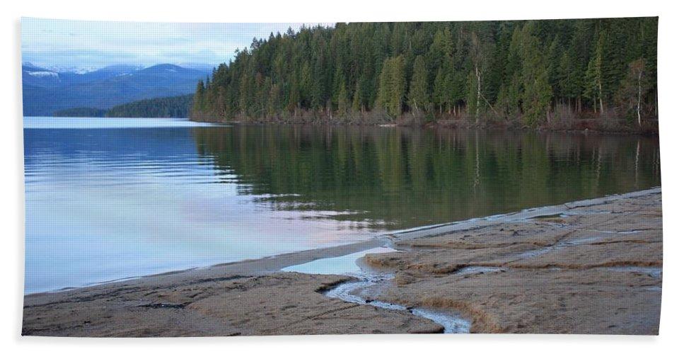 Idaho Bath Sheet featuring the photograph Peaceful Spring Lake by Carol Groenen