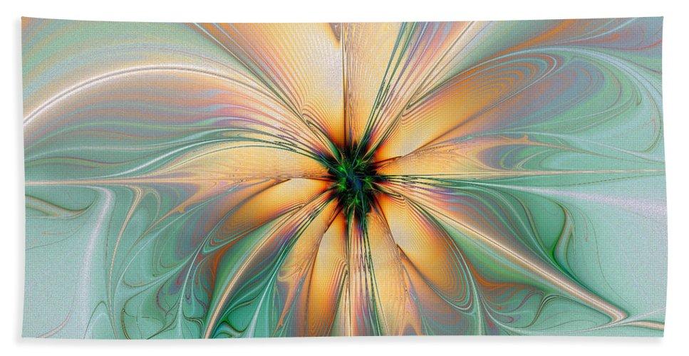 Digital Art Hand Towel featuring the digital art Peach Allure by Amanda Moore