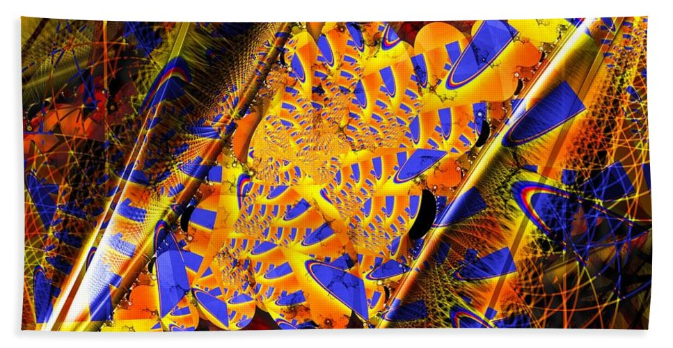 Peacock Bath Sheet featuring the digital art Peacock Parts by Ron Bissett