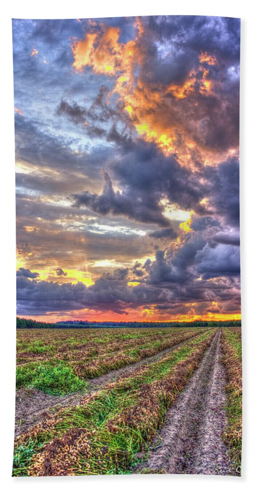 Reid Callaway Heavenly Peanuts Bath Sheet featuring the photograph Peanuts, Clouds And Sun by Reid Callaway