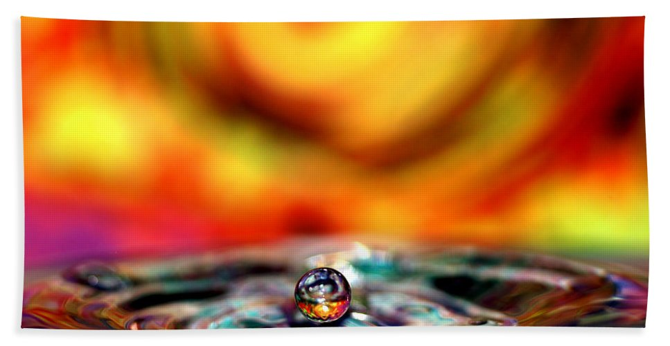 Don Keisling Hand Towel featuring the photograph Pearl Water 2 by Don Keisling