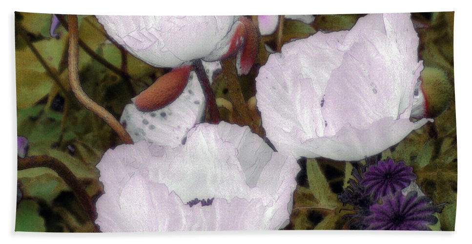 Blooms Bath Sheet featuring the digital art Pearlblossoms by RC DeWinter