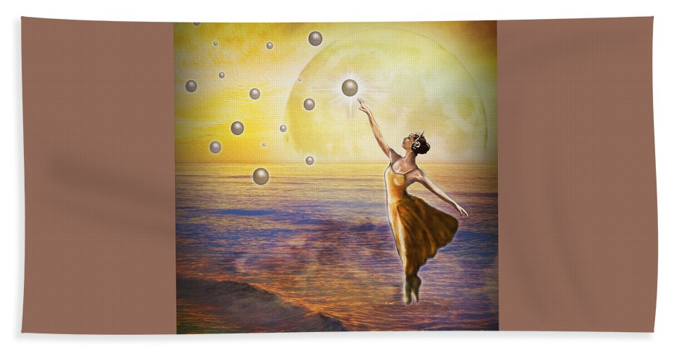 Pearls Of Heaven Bath Sheet featuring the painting Pearls Of Heaven by Todd L Thomas