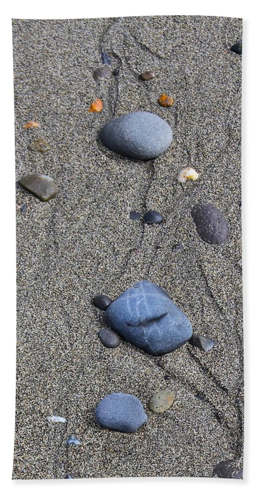 Sand Bath Sheet featuring the photograph Pebbles Of Blue by Rick Monyahan